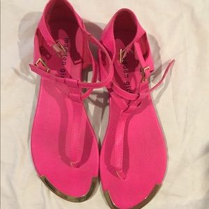 Madden Girl Shoes - Hot pink pink madden girl sandals- 7.5